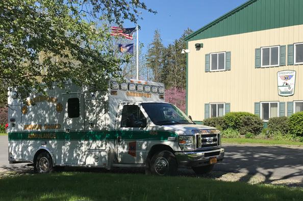 Ambulance at Building