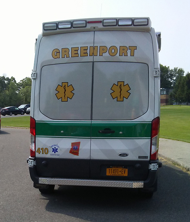 Greenport Rescue Ambulance 410 - Back View