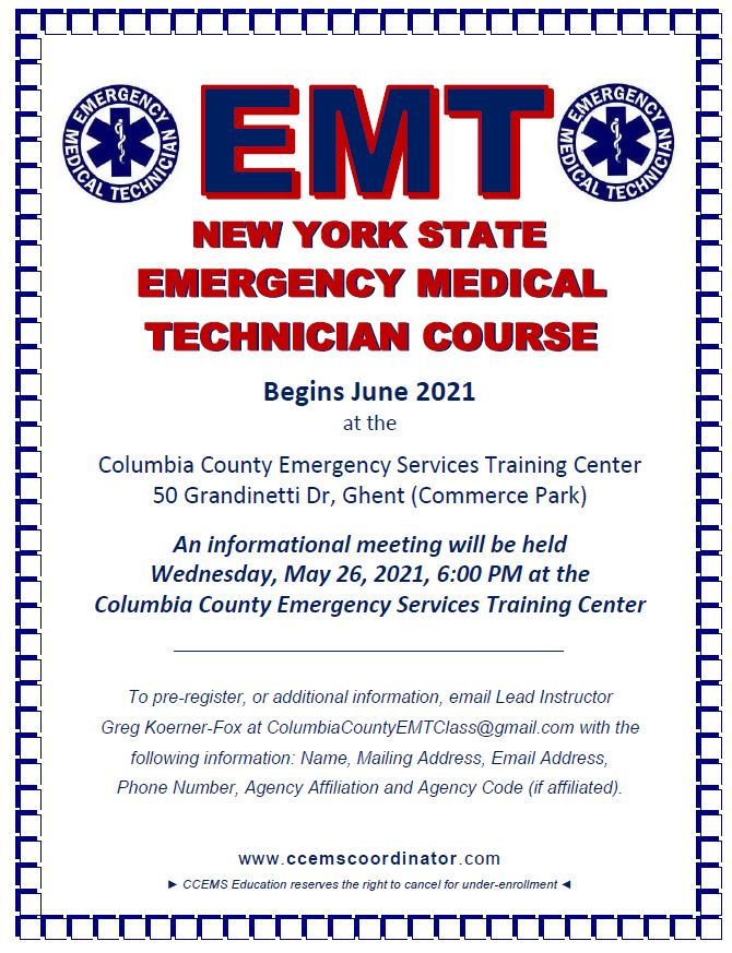 Featured Image for EMT Class Begins June 2021